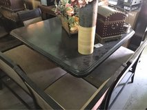 Ashley Nook counter high kitchen set two chairs two benches storage Under table small rip in 29 Palms, California