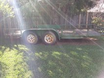 "utility trailer 16 ft dual axle 3500lbs per axle  in good shape "" sold as is "" in Fort Campbell, Kentucky"