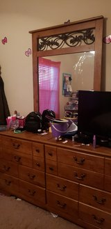 Headboard/Dresser with Mirror in Fort Campbell, Kentucky