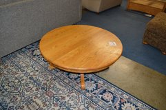 Solid Oak Round Coffee Table in Fort Lewis, Washington