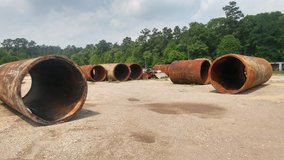 large 8' steel culverts in Houston, Texas