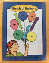 Evan Moor Bunch of Balloons Word Families Laminated Activity in Okinawa, Japan