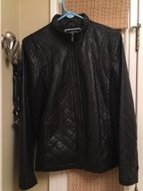 Women's Large Faux Leather Jacket in Yorkville, Illinois