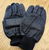 Gloves Black Leather N.Ireland 1987 in Lakenheath, UK