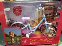 Doll bicycle set new in Bolingbrook, Illinois