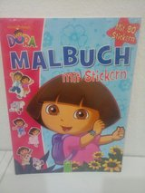 Dora drawing book with stickers in Ramstein, Germany