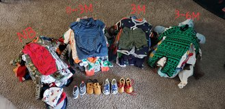 Baby boy clothes and shoes Newborn-6 months *REDUCED* in Byron, Georgia