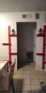 corner shelf and flat wall shelf in Kingwood, Texas
