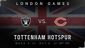 2 tickets for Bears VS Raiders game in London on Oct6 in Ramstein, Germany