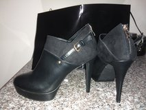 Black Leather Suede bootie in Beaufort, South Carolina