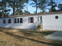 Nice 2 and 3 bedroom mobile homes in Hubert, near Swansboro in Camp Lejeune, North Carolina