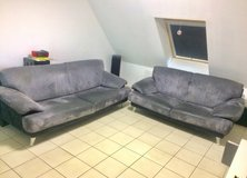 Designer Couch Set 3 seater + 2 seater leather in Ramstein, Germany