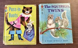 Vintage Puss-in-Boots 1955 & The Squirrel Twins 1961 Children's Books in Glendale Heights, Illinois
