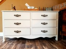 Refinished solid wood dresser in Bolingbrook, Illinois