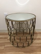 Mirror-top end table in Kingwood, Texas