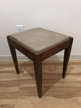 Wooden storage stool in Conroe, Texas
