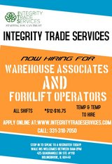 Warehouse & Forklift in Westmont, Illinois