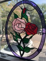 Stain Glass Window pane Flowers in Norfolk, Virginia