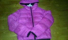 Girls' lightweight reversible puffer jacket in Fort Drum, New York