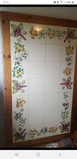 Italian Handpainted Tile topped Table with 6 chairs in Spangdahlem, Germany
