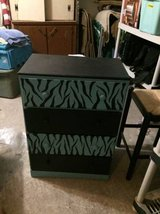 ZEBRA WOOD CHEST DRAWERS in The Woodlands, Texas