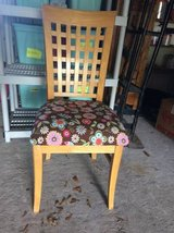 WOOD CHAIR  BROWN CUSHION in The Woodlands, Texas