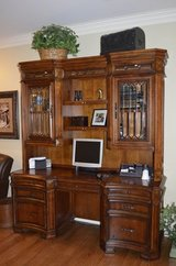 3 Pc.Office Suite, Curvy Desk & Hutch, File Cabinet in Aurora, Illinois