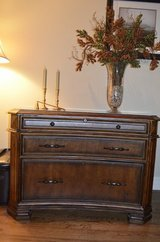 3 Peice Office Suite, File Cabinet, Deck Credenza w/Hutch in Oswego, Illinois