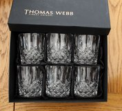 High quality Crystal Whisky glasses as new in box in Lakenheath, UK