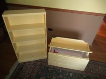 Bookcase and storage bench. in Naperville, Illinois