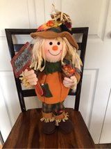 Scarecrow Halloween decor in Oswego, Illinois