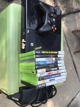 Xbox 360 console and games in Spring, Texas