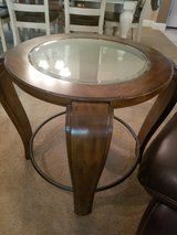 2 glasstop end tables in Kingwood, Texas