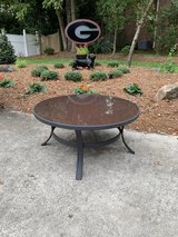 Wrought iron and glass coffee table in Warner Robins, Georgia