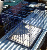 BLUE DOG CRATE / KENNEL w/Metal Sliding Tray in Alamogordo, New Mexico