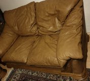 Belgium leather couch set in Spangdahlem, Germany