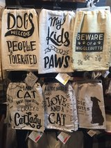 Fun pet-inspired dish towels! in Bartlett, Illinois