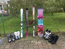 Skis, snowboard and boots in Stuttgart, GE
