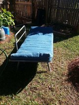 SOLIDLY BUILT FUTON WITH BLUE MATTRESS in Cherry Point, North Carolina