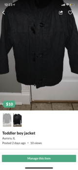 Toddler boy jacket in St. Charles, Illinois