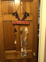 "New Halloween ""Define Wicked"" Wood Sign with Glass Pumpkins, Ghosts, etc... 30"" Long in Glendale Heights, Illinois"