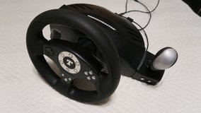 steriing wheel thrusmaster good for a PS3 (phone only) in Okinawa, Japan