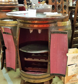 French wine barrel table in Wiesbaden, GE