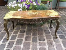 beautiful french vintage coffee table, iron + marple top in Ramstein, Germany