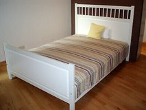 Ikea Bed with Mattress and boxsprings in Ramstein, Germany