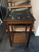 Tall Antique End Table in Ramstein, Germany