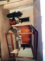 National Mount Airy King size Canopy bed with matching side tables and TV stand credenza/wardrobe in Joliet, Illinois