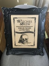 "Halloween Framed ""Witches Brew"" - Burlap with Black Wood Frame -  19"" x 15"" in Glendale Heights, Illinois"