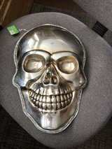 "New World Market Halloween ""Silver Skull"" Wall or Window Decor - New with Tags in Glendale Heights, Illinois"