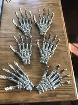 6 Gold Skeleton Hands - Halloween Decor in Glendale Heights, Illinois